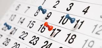 Kalendarium 2019-2020